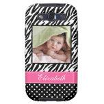Zebra Stripes and Polka Dots Custom Photo Galaxy S3 Covers