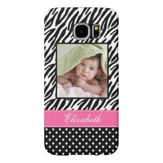 Zebra Stripes and Polka Dots Custom Photo Samsung Galaxy S6 Case