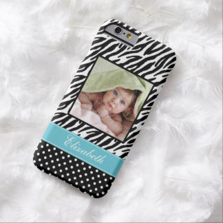 Zebra Stripes and Polka Dots Photo Barely There iPhone 6 Case