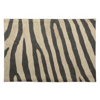 Zebra Stripes Animal Hair Cloth Placemat