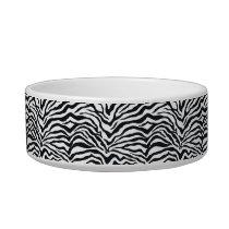 Zebra Stripes Animal Print Pattern Pet Bowl