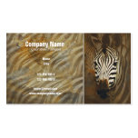 Zebra stripes art profile cards - customizable Double-Sided standard business cards (Pack of 100)