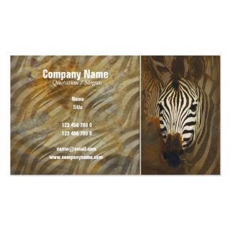 Zebra stripes art profile cards - customizable business card