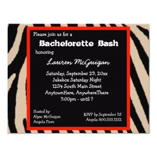 Zebra Stripes Bachelorette Party Invitation
