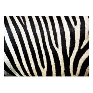 Zebra Stripes Background Pattern Large Business Card