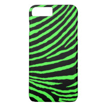 ZEBRA STRIPES: BLACK and BRIGHT GREEN iPhone 8 Plus/7 Plus Case