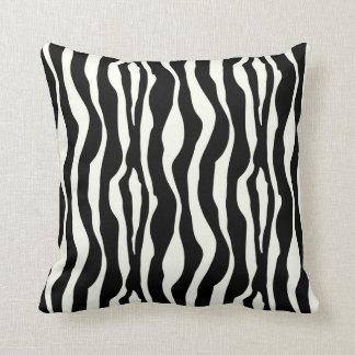 Zebra stripes - Black and White Throw Pillows