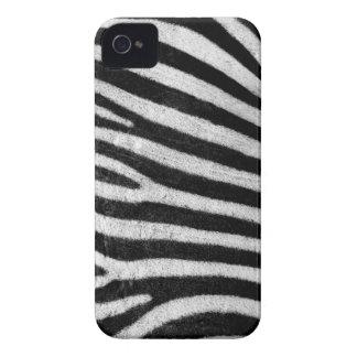 Zebra stripes black & white texture photograph iPhone 4 case