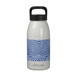 ZEBRA STRIPES: BLUE ON BLUE BLUblueZebraMUG Water Bottles