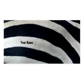 zebra stripes business cards