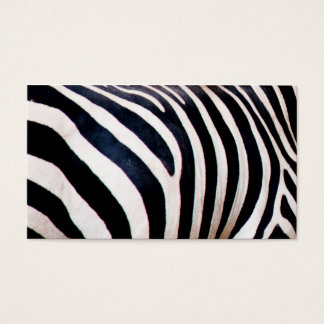 Zebra stripes business card