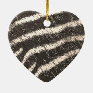 Zebra Stripes Ceramic Ornament
