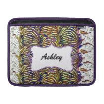zebra stripes chic  purple elegance sleeve for MacBook air