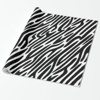 Zebra Stripes Classic Black And White Wrapping Paper