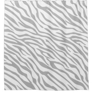 Zebra Stripes Click to Customize its Grey Color Shower Curtain