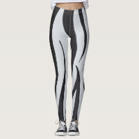 Zebra Stripes Curves Leggings