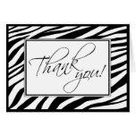 Zebra Stripes Custom Thank You Card