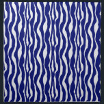 "Zebra stripes - Dark Cobalt Blue and White Cloth Napkin<br><div class=""desc"">An updated take on a classic animal print - zebra stripes in dark cobalt blue on a white background</div>"