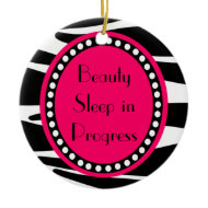 Zebra Stripes Drama Queen Door Hanger Ornament ornament