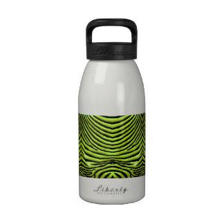ZEBRA STRIPES: ELECTRIC LIME ELEClimeZebraMUG Water Bottle