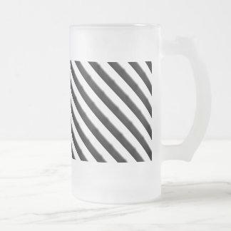 Zebra Stripes Frosted Glass Mug