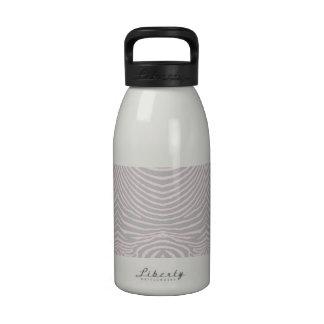 ZEBRA STRIPES: GRAY and BLUSH PINK GrayBlushPinkZe Water Bottle