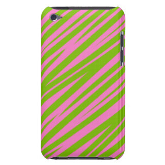 Zebra Stripes Green-Pink iPod Touch Case-Mate Barely There iPod Covers