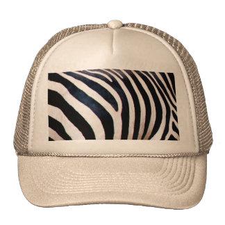 Zebra stripes hats