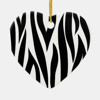Zebra stripes - Heart Ornamnet Double-Sided Heart Ceramic Christmas Ornament