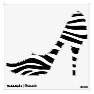 Zebra Stripes High Heels Wall Graphic