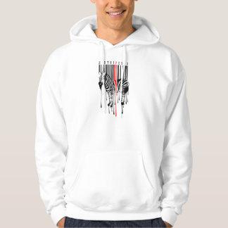 Zebra Stripes Hooded Pullovers