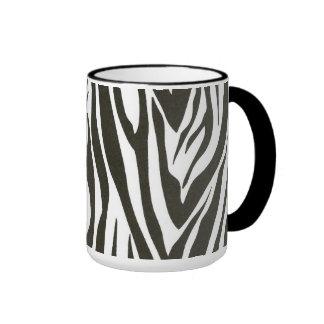 Zebra stripes in black and white coffee mug