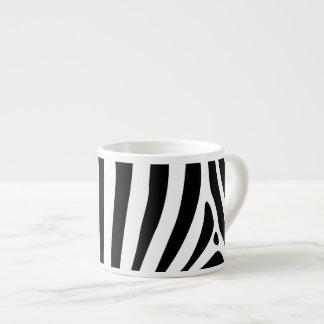 Zebra stripes in black and white pattern design espresso cup