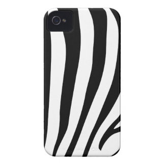 Zebra stripes in black and white pattern design iPhone 4 cover