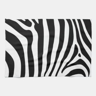 Zebra stripes in black and white pattern design towel