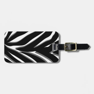 Zebra Stripes in Black & White with Gray Accents Tag For Bags
