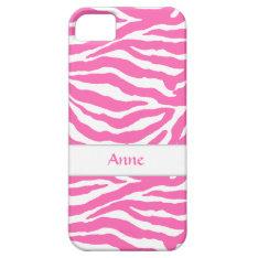 Zebra Stripes In Hot Pink Iphone 5/5s Case at Zazzle