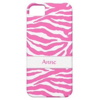 Zebra Stripes In Hot Pink iPhone 5/5S Case