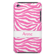 Zebra Stripes In Hot Pink On iPod Touch Case-Mate iPod Touch Covers at Zazzle