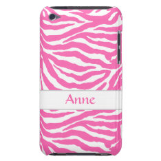 Zebra Stripes In Hot Pink On Ipod Touch Case-mate at Zazzle