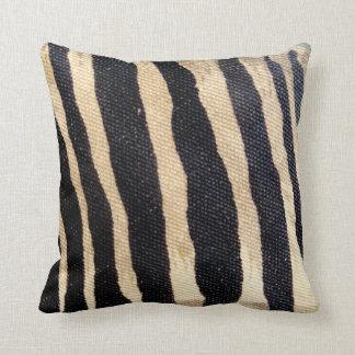 Zebra Stripes Jungle Print Throw Pillow chair art