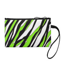 Zebra Stripes Lime Green Coin Wallet