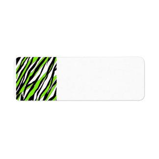 Zebra Stripes Lime Green Label