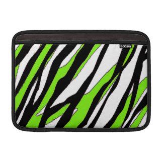 Zebra Stripes Lime Green MacBook Air Sleeve