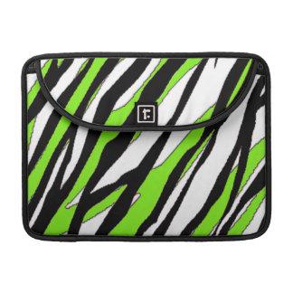 Zebra Stripes Lime Green MacBook Pro Sleeve