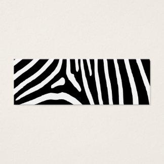 Zebra Stripes Mini Business Card