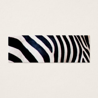 Zebra stripes mini business card