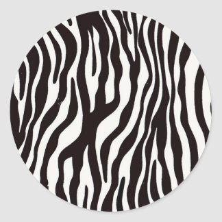 Zebra Stripes Mix & Match Collectables - Classic Round Sticker