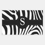 Zebra stripes monogram initial S custom Sticker