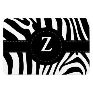 Zebra stripes monogram initial Z custom Rectangular Photo Magnet